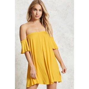 FOREVER 21 Off-the-Shoulder Mini Dress
